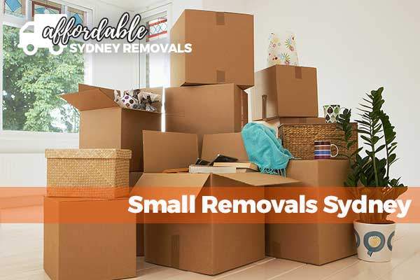 affordable small removals sydney boxes packed and stacked and ready for moving