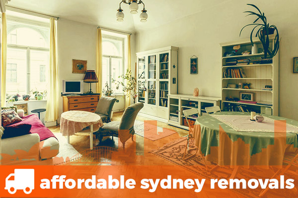Sydney family lounge room full of furniture for removals