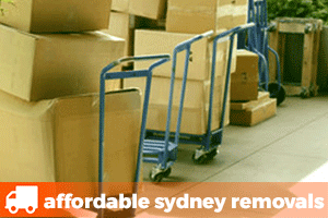 sydney removalist boxes on trolleys ready for secure reliable removals services
